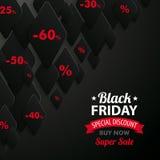 Fondo astratto Black Friday del rombo Immagini Stock