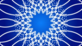 Fondo astratto blu, caleidoscopio, ciclo stock footage