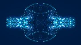 Fondo astratto blu, ciclo illustrazione di stock