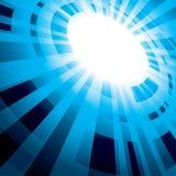 Fondo astratto blu con il flash Royalty Illustrazione gratis