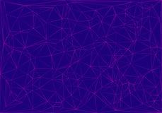Fondo astratto blu con le linee di porpore illustrazione vettoriale