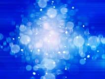 Fondo astratto blu con le linee leggere Fotografie Stock Libere da Diritti