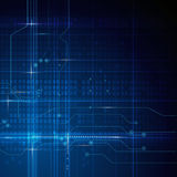 Fondo astratto blu del circuito di tecnologia Immagine Stock Libera da Diritti