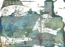 Fondo astratto blu dell'acquerello di mattina Immagine Stock