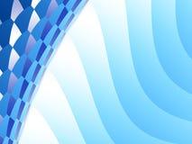 Fondo astratto blu di frattale con le onde e mosaico dal lato Fotografia Stock Libera da Diritti