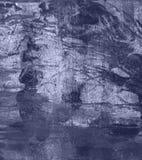 Fondo astratto blu di lerciume dell'acquerello Fotografie Stock Libere da Diritti
