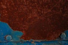 Fondo astratto blu di lerciume, vecchio fondo del metallo Fotografie Stock Libere da Diritti