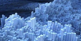 fondo astratto blu di tecnologia della scatola, rappresentazione 3d Immagine Stock Libera da Diritti