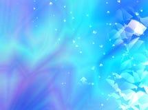 Fondo astratto blu e porpora di frattale con un modello casuale e gli effetti di vetro decorativi Immagini Stock