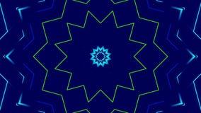 Fondo astratto blu, luce variopinta, ciclo illustrazione di stock