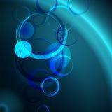 Fondo astratto blu scuro con i cerchi di lerciume Immagine Stock Libera da Diritti