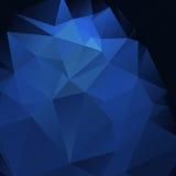 Fondo astratto blu scuro di fascino Fotografia Stock