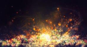 Fondo astratto brillante del nuovo anno Backgrou leggiadramente delle luci della corda immagine stock