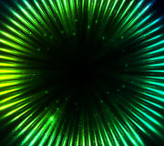 Fondo astratto brillante verde delle luci cosmiche Immagine Stock