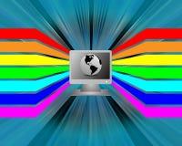 Spettro ed il computer Immagini Stock Libere da Diritti
