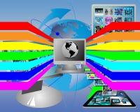 Spettro ed il computer Immagine Stock Libera da Diritti