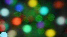 Fondo astratto che muove i cerchi d'ardore colorati archivi video