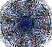 Fondo astratto colorato con le linee royalty illustrazione gratis