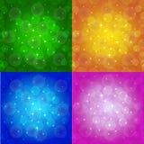 Fondo astratto colorato con le stelle Fotografia Stock