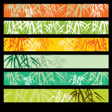 Fondo astratto con bambù Fotografie Stock