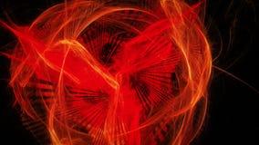 Fondo astratto con fenix d'ardore rosso Fotografia Stock Libera da Diritti