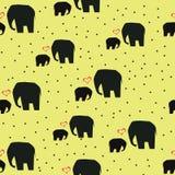 Fondo astratto con gli elefanti Immagini Stock