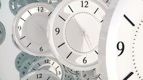 Fondo astratto con gli orologi di filatura illustrazione vettoriale