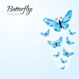 Fondo astratto con i butteflies del diamante Fotografia Stock Libera da Diritti