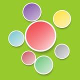 Fondo astratto con i cerchi Fotografia Stock
