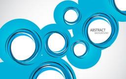 Fondo astratto con i cerchi blu Immagine Stock