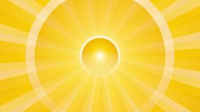 Fondo astratto con i cerchi giranti gialli illustrazione di stock