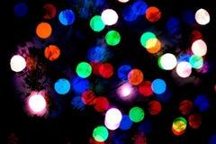 Fondo astratto con i cerchi multicolori - illustrazione Fotografia Stock Libera da Diritti