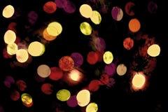 Fondo astratto con i cerchi multicolori su fondo nero - illustrazione Fotografia Stock Libera da Diritti
