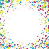 Fondo astratto con i coriandoli multicolori di caduta Spazio vuoto per testo Fondo per le carte di festa, saluti Fotografia Stock