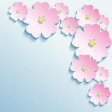 Fondo astratto con i fiori 3d Immagine Stock Libera da Diritti