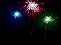 Fondo astratto con i fuochi d'artificio Fotografia Stock Libera da Diritti
