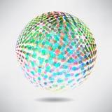 Fondo astratto con i punti e le linee della sfuocatura sul tema digitale Immagini Stock