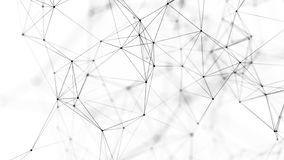 Fondo astratto con i punti e le linee di collegamento Struttura della connessione di rete rappresentazione 3d illustrazione vettoriale