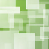 Fondo astratto con i rettangoli stratificati verde Fotografia Stock Libera da Diritti