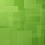 Fondo astratto con i rettangoli stratificati verde Immagini Stock