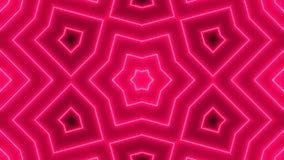Fondo astratto con il caleidoscopio al neon royalty illustrazione gratis