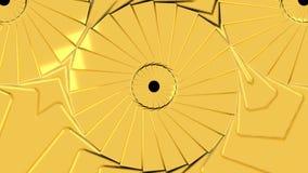 Fondo astratto con il caleidoscopio dell'oro video d archivio