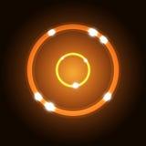 Fondo astratto con il cerchio arancio Immagini Stock Libere da Diritti