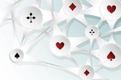 Fondo astratto con il simbolo delle carte da gioco Fotografie Stock Libere da Diritti