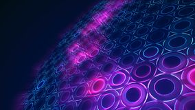 Fondo astratto con l'animazione del mosaico dell'onda dei cerchi stock footage