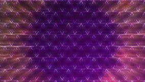 Fondo astratto con l'animazione del mosaico dell'onda dei triangoli archivi video