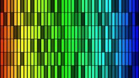 Fondo astratto con l'animazione delle particelle della luce intermittente immagine stock