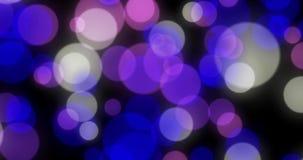 Fondo astratto con l'ardore animato ciclo magenta, viola, blu, bianco del bokeh, alfa immagine stock libera da diritti