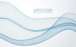 Fondo astratto con l'onda sonora delle particelle dinamiche Ab illustrazione vettoriale