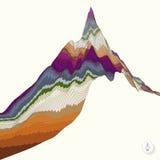 Fondo astratto con la montagna mosaico Fotografie Stock Libere da Diritti